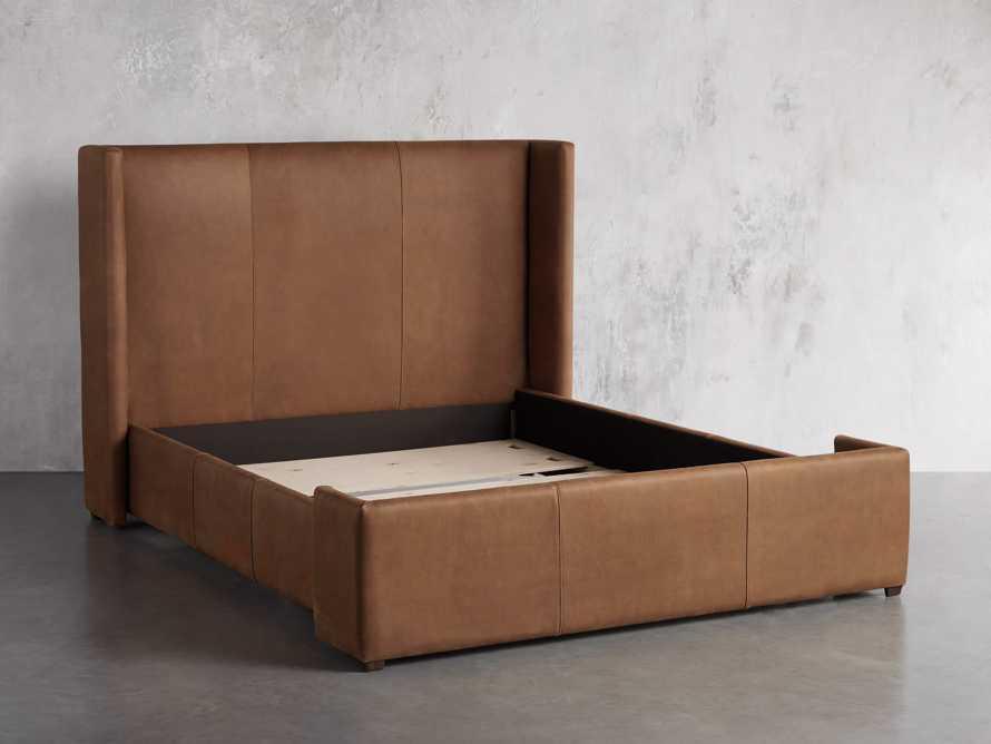 """Wyller Leather 52"""" King Bed in Lukas Pecan, slide 6 of 7"""
