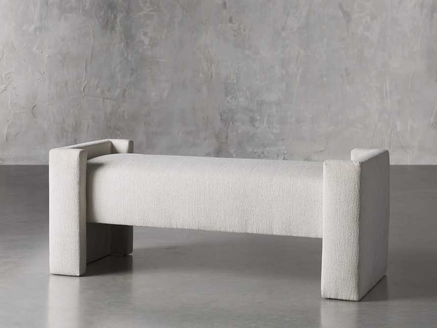 """Wyller 55"""" Bench in Tania Cashmere, slide 2 of 4"""