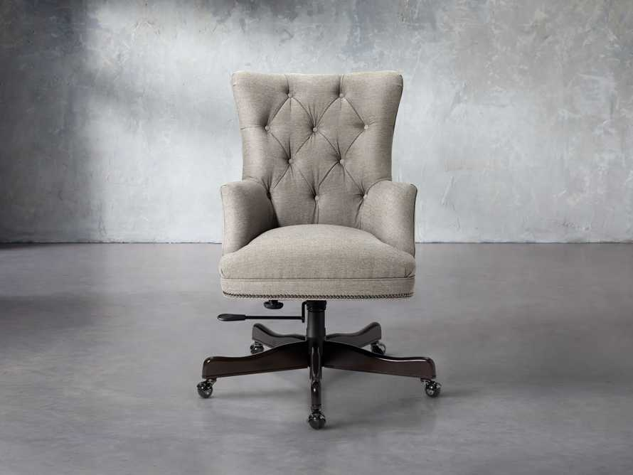Addy Upholstered Tufted Desk Chair in Samantha Sand