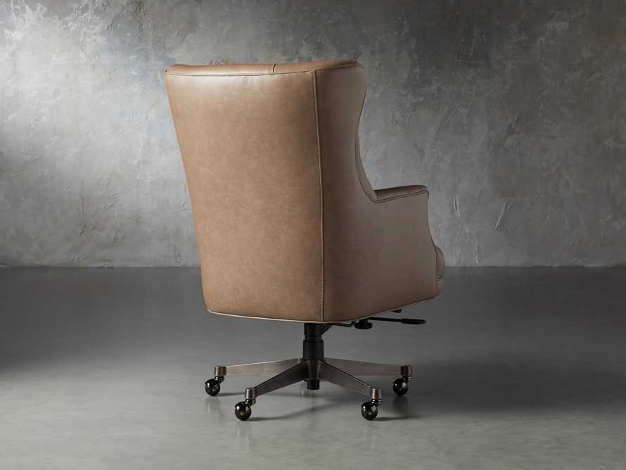 "Addy Leather 27"" Desk Chair in Dolimiti Rocky, slide 4 of 9"