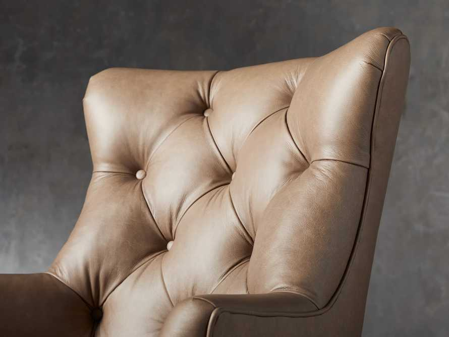 "Addy Leather 27"" Desk Chair in Dolimiti Rocky, slide 6 of 9"