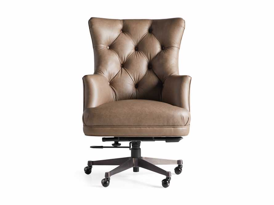 "Addy Leather 27"" Desk Chair in Dolimiti Rocky, slide 8 of 9"