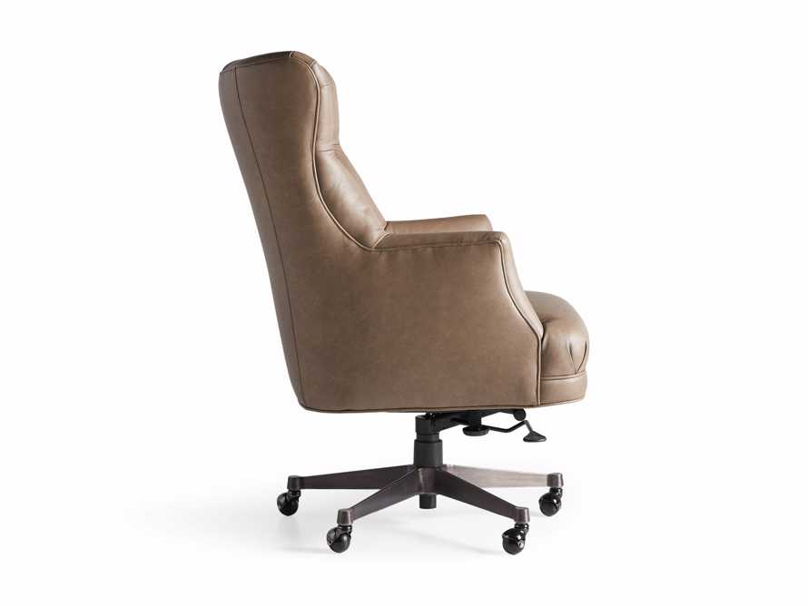 "Addy Leather 27"" Desk Chair in Dolimiti Rocky, slide 9 of 9"