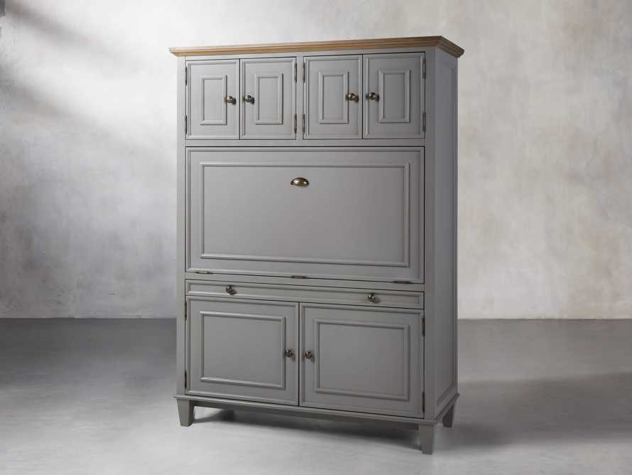 Alderson Hideaway Desk in Stratus and Chatham Grey, slide 3 of 10