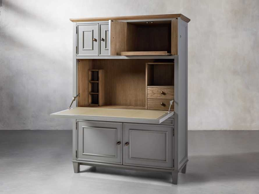 Alderson Hideaway Desk in Stratus and Chatham Grey, slide 4 of 10