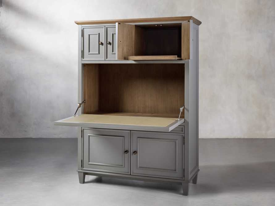Alderson Hideaway Desk in Stratus and Chatham Grey, slide 5 of 10