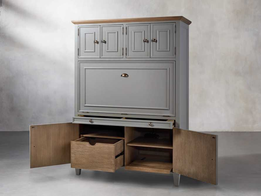 Alderson Hideaway Desk in Stratus and Chatham Grey, slide 6 of 10