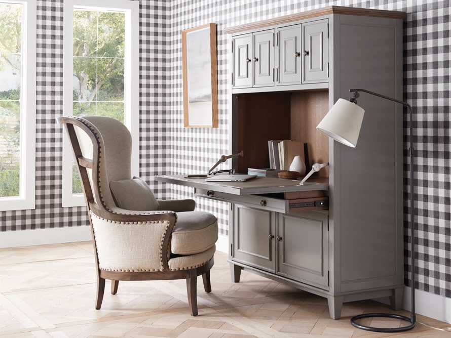 Alderson Hideaway Desk in Stratus and Chatham Grey, slide 1 of 10