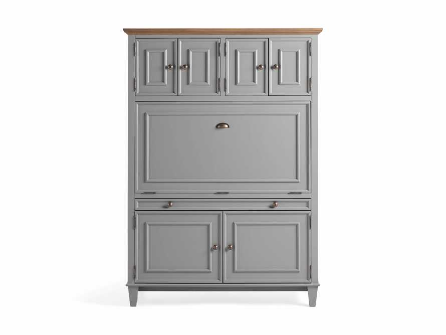 Alderson Hideaway Desk in Stratus and Chatham Grey, slide 9 of 10