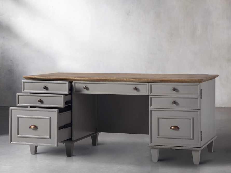 Alderson Executive Desk in Stratus and Chatham Grey, slide 4 of 10