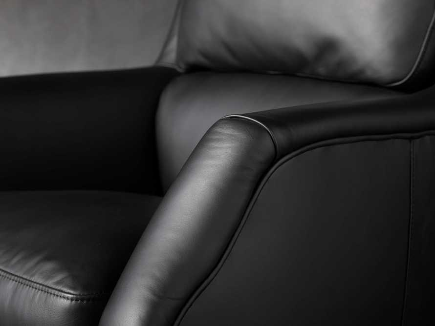 "Alex Leather 33"" Desk Chair in Black, slide 7 of 11"