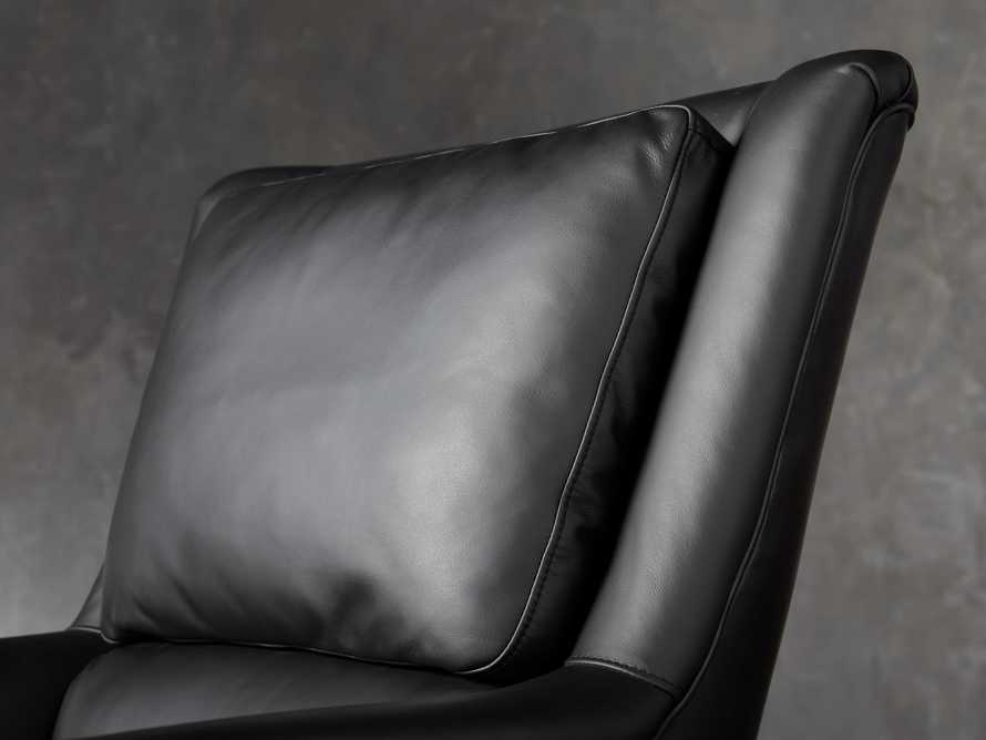 "Alex Leather 33"" Desk Chair in Black, slide 8 of 11"