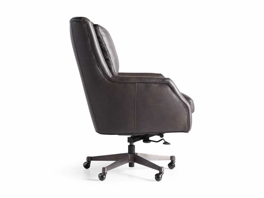 "Alex Leather 33"" Desk Chair in Brown, slide 9 of 9"