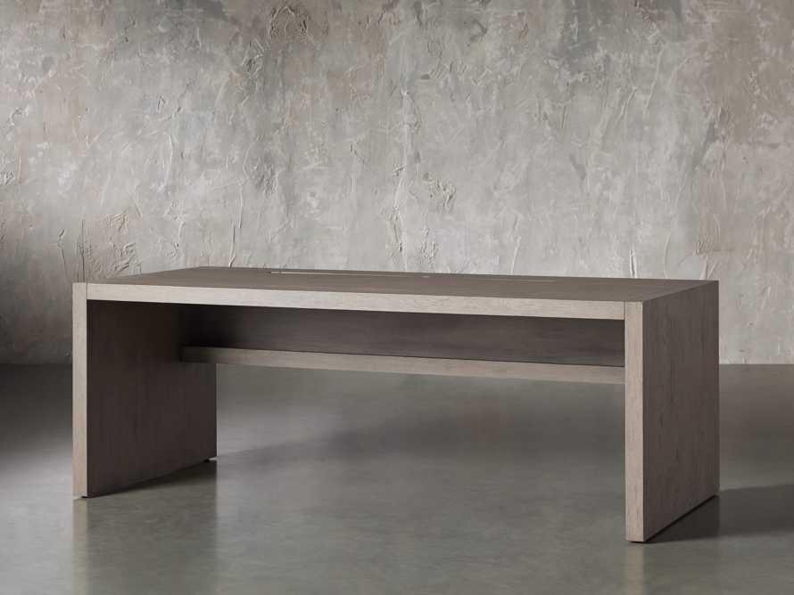 "Bodhi 83"" Modular Desk in Salvaged Grey, slide 2 of 9"