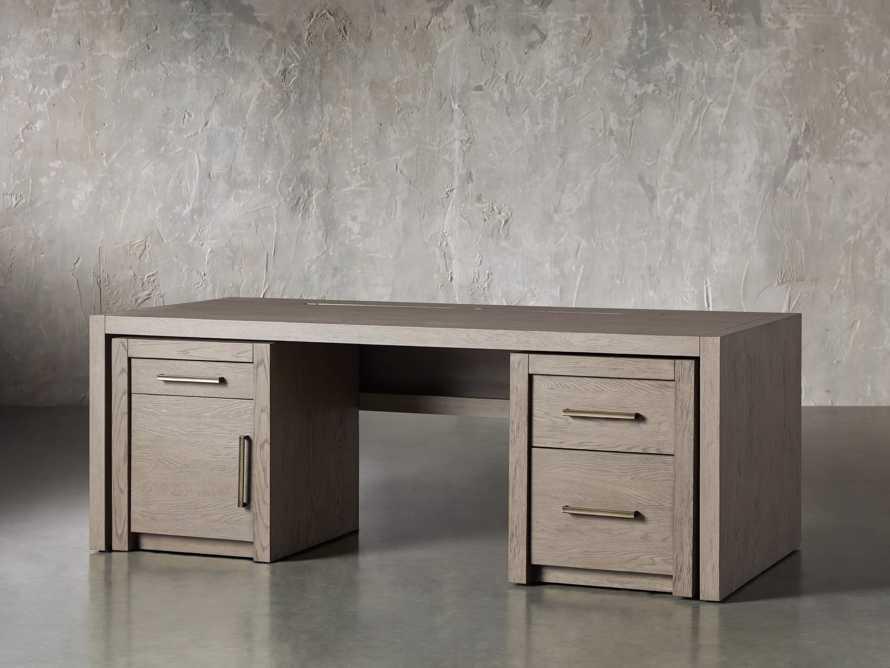 "Bodhi 83"" Modular Desk in Salvaged Grey, slide 5 of 9"