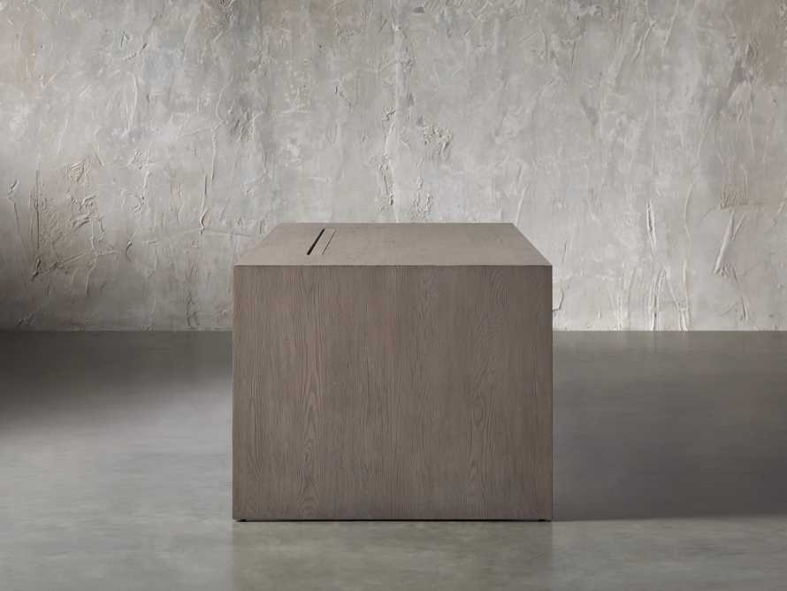 "Bodhi 83"" Modular Desk in Salvaged Grey, slide 3 of 9"