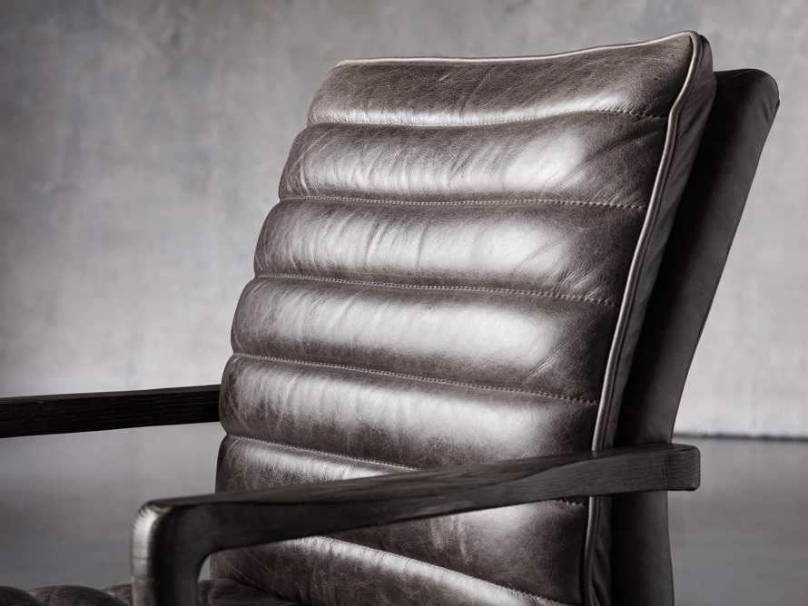 "Cedrick 25"" Leather Desk Chair"