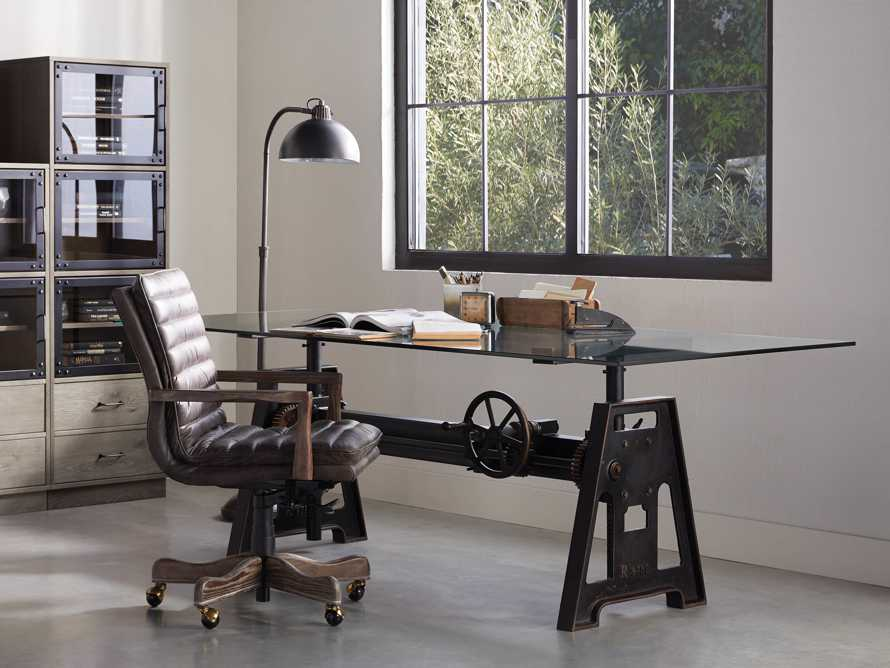 "Cedrick 25"" Leather Desk Chair, slide 1 of 10"