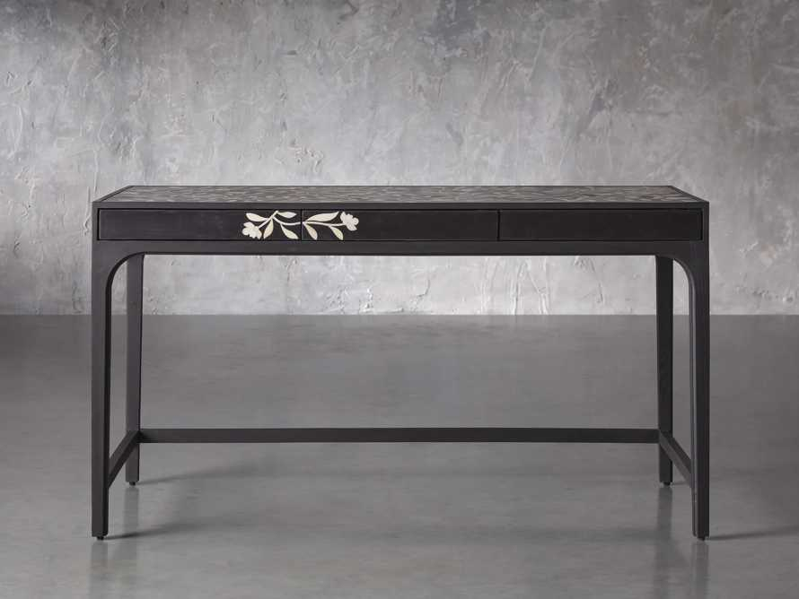 "Divya 62"" Writing Desk in Night, slide 1 of 6"