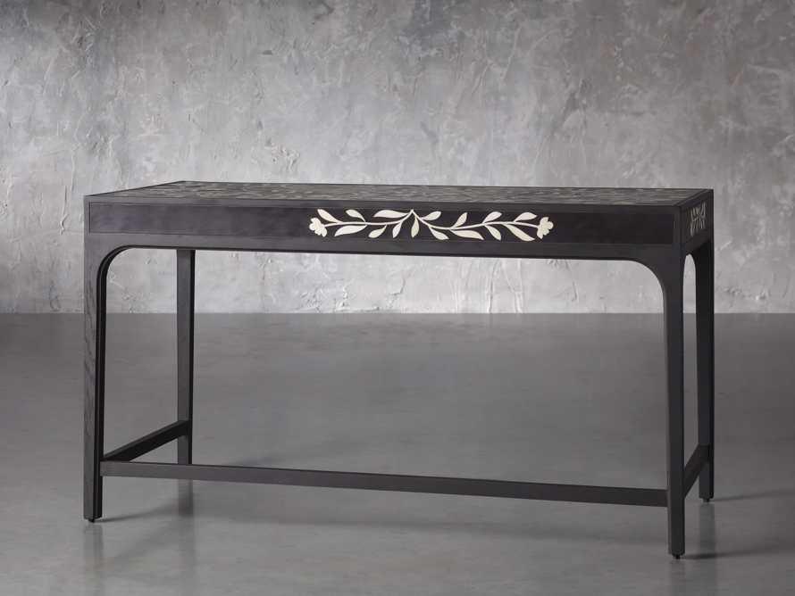 "Divya 62"" Writing Desk in Night, slide 3 of 6"