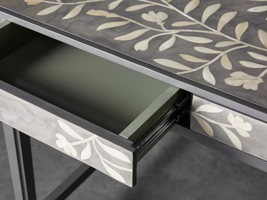"Divya 62"" Writing Desk in Dusk, slide 6 of 8"