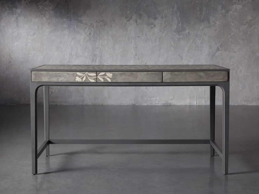 """Divya 62"""" Writing Desk in Dusk, slide 2 of 9"""