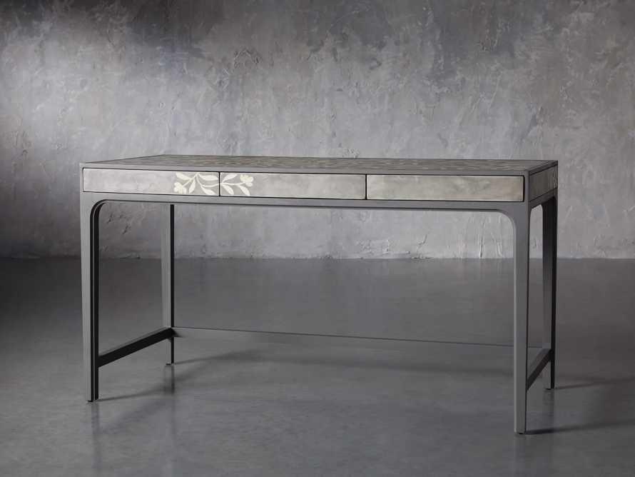 """Divya 62"""" Writing Desk in Dusk, slide 3 of 9"""