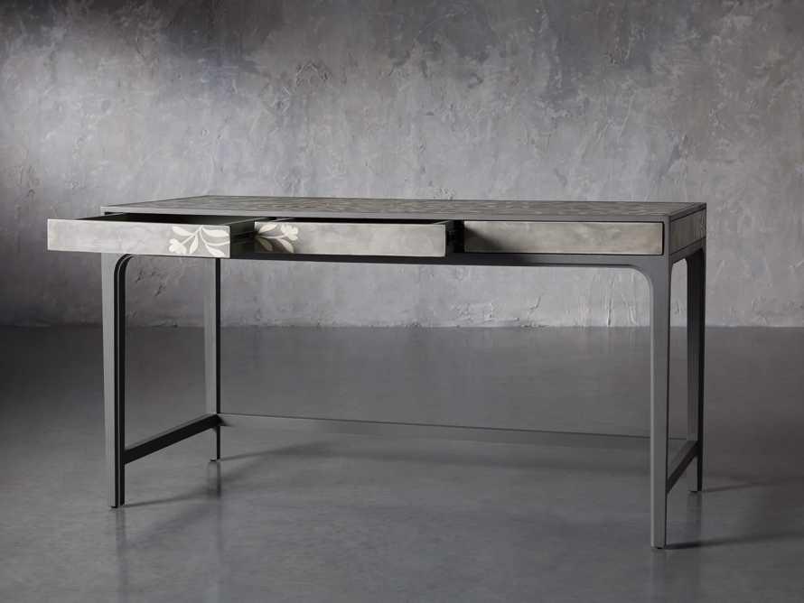 """Divya 62"""" Writing Desk in Dusk, slide 4 of 9"""