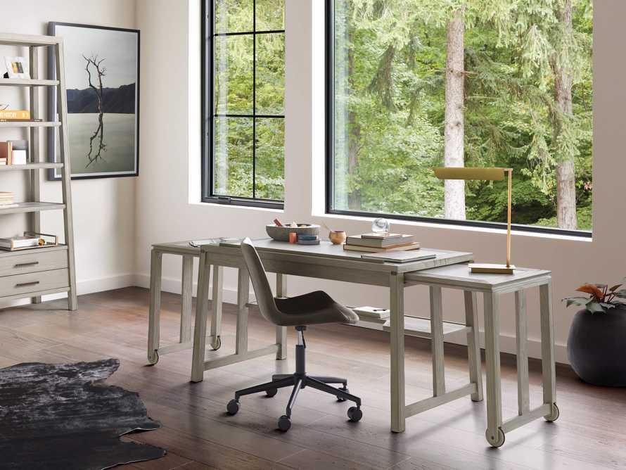 """Euclid 55"""" Executive Desk in Boulder Grey, slide 9 of 12"""