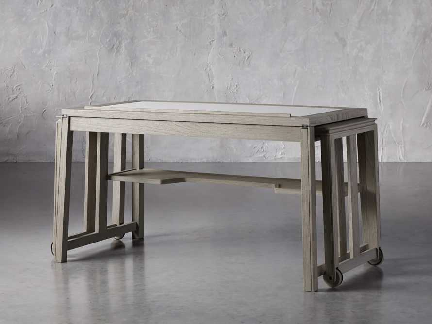 """Euclid 55"""" Executive Desk in Boulder Grey, slide 4 of 12"""
