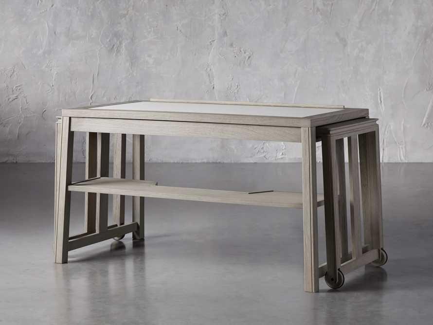 """Euclid 55"""" Executive Desk in Boulder Grey, slide 5 of 12"""