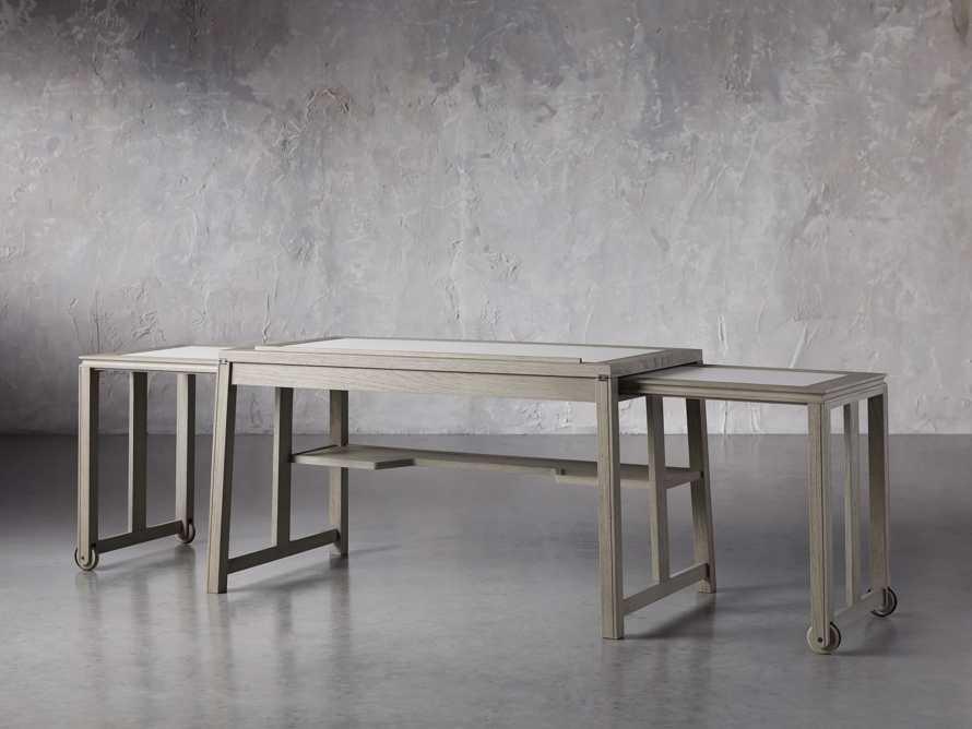 """Euclid 55"""" Executive Desk in Boulder Grey, slide 6 of 12"""