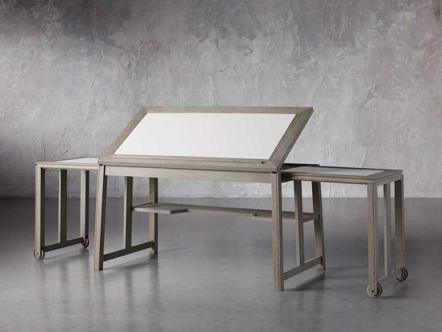 """Euclid 55"""" Executive Desk in Boulder Grey, slide 7 of 12"""