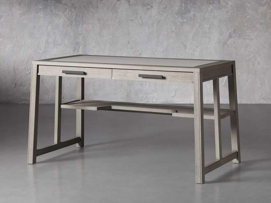 """Euclid 55"""" Writing Desk in Boulder Grey, slide 2 of 6"""