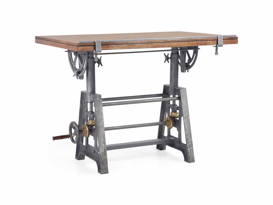 Industrial Crank Drafting table, slide 5 of 11
