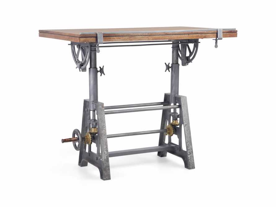 Industrial Crank Drafting table, slide 6 of 11