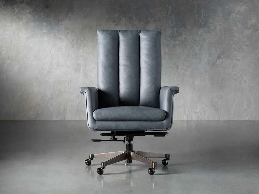 "Jayna Leather 29"" Desk Chair, slide 1 of 10"