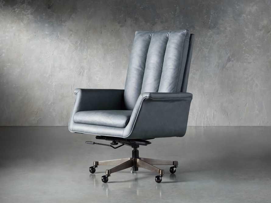"Jayna Leather 29"" Desk Chair, slide 2 of 10"