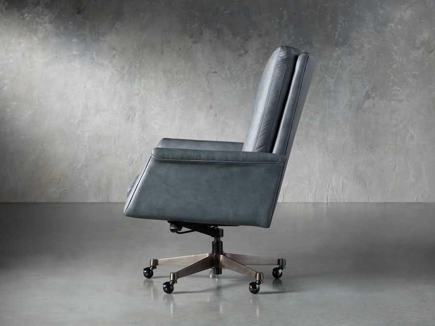 "Jayna Leather 29"" Desk Chair, slide 3 of 10"
