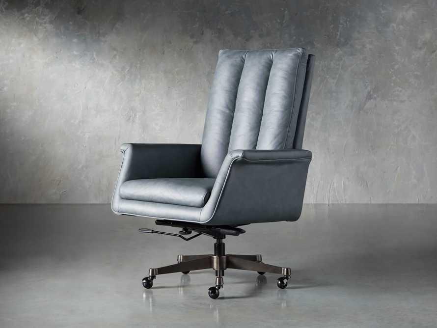 "Jayna Leather 29"" Desk Chair, slide 5 of 10"