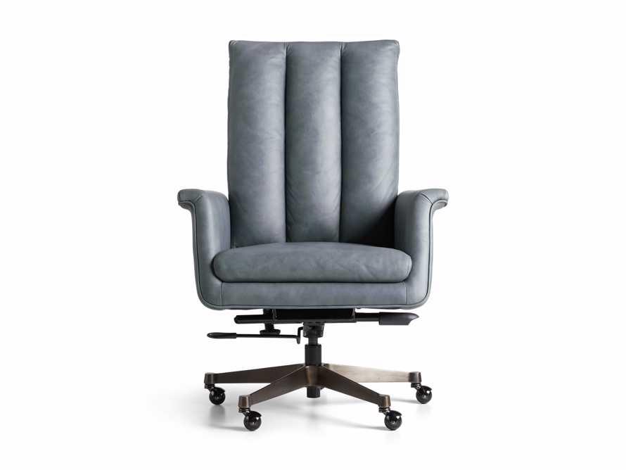 "Jayna Leather 29"" Desk Chair, slide 9 of 10"