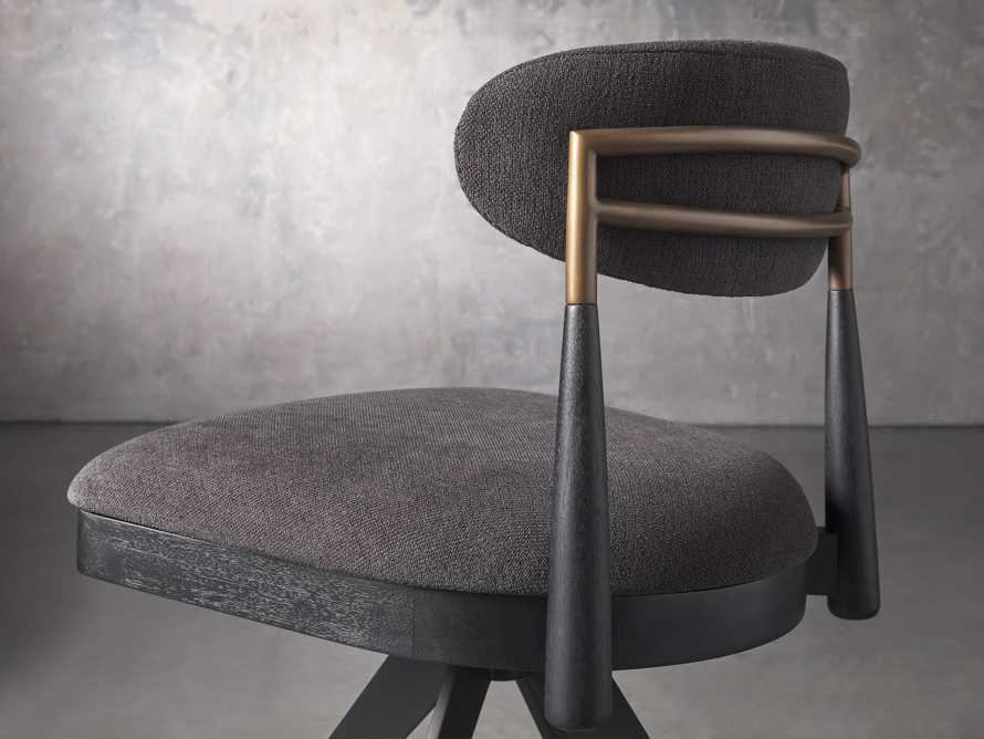 """Jagger 20"""" Desk Chair in Downy Charcoal, slide 5 of 9"""