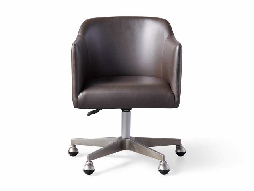 "Lain 22"" Faux Leather Desk Chair in Grey, slide 5 of 6"