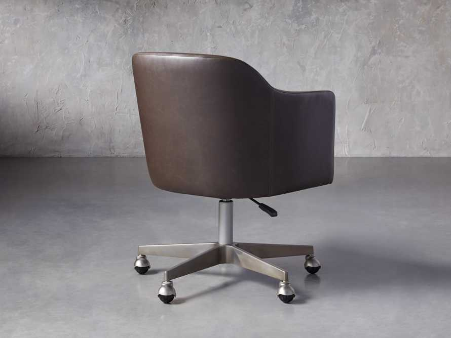 "Lain 22"" Faux Leather Desk Chair in Grey, slide 4 of 6"