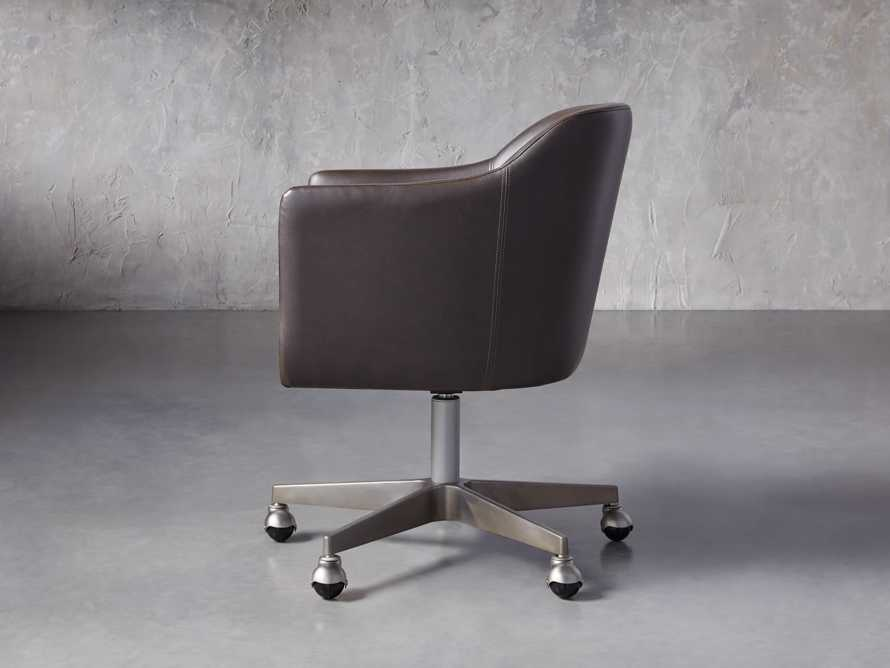 "Lain 22"" Faux Leather Desk Chair in Grey, slide 3 of 6"