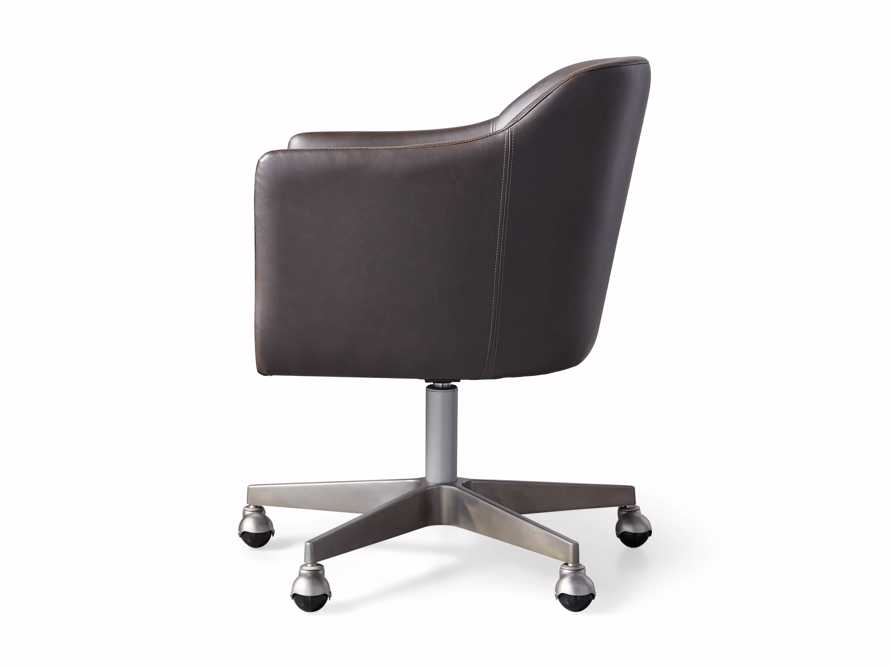 "Lain 22"" Faux Leather Desk Chair in Grey, slide 6 of 6"