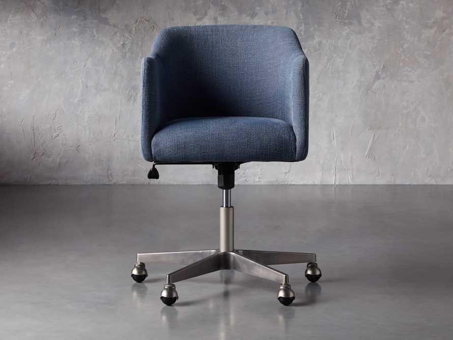 """Lain 22"""" Desk Chair in Indigo Linen, slide 5 of 10"""