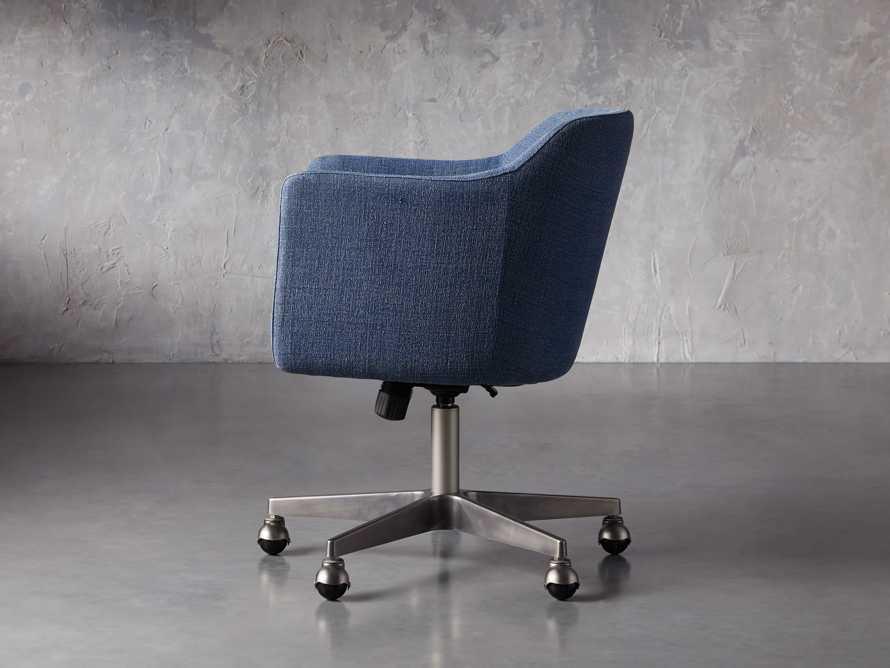 """Lain 22"""" Desk Chair in Indigo Linen, slide 3 of 10"""