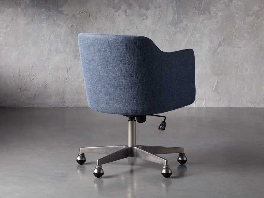 """Lain 22"""" Desk Chair in Indigo Linen, slide 4 of 10"""