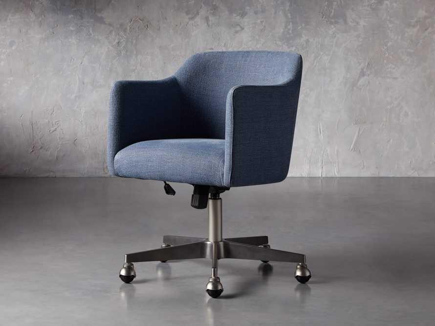 """Lain 22"""" Desk Chair in Indigo Linen, slide 6 of 10"""